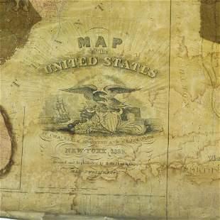 MAP OF UNITED STATES, C. VARLE 1832