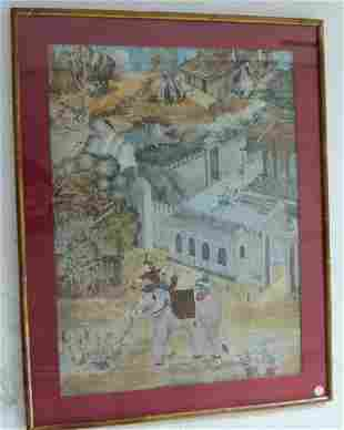 W/C INDIAN/MOUGAL ROYAL COURT  18/19TH C.