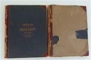 (2) ATLAS OF ORANGE COUNTY NY, A.H. MUELLER 1903