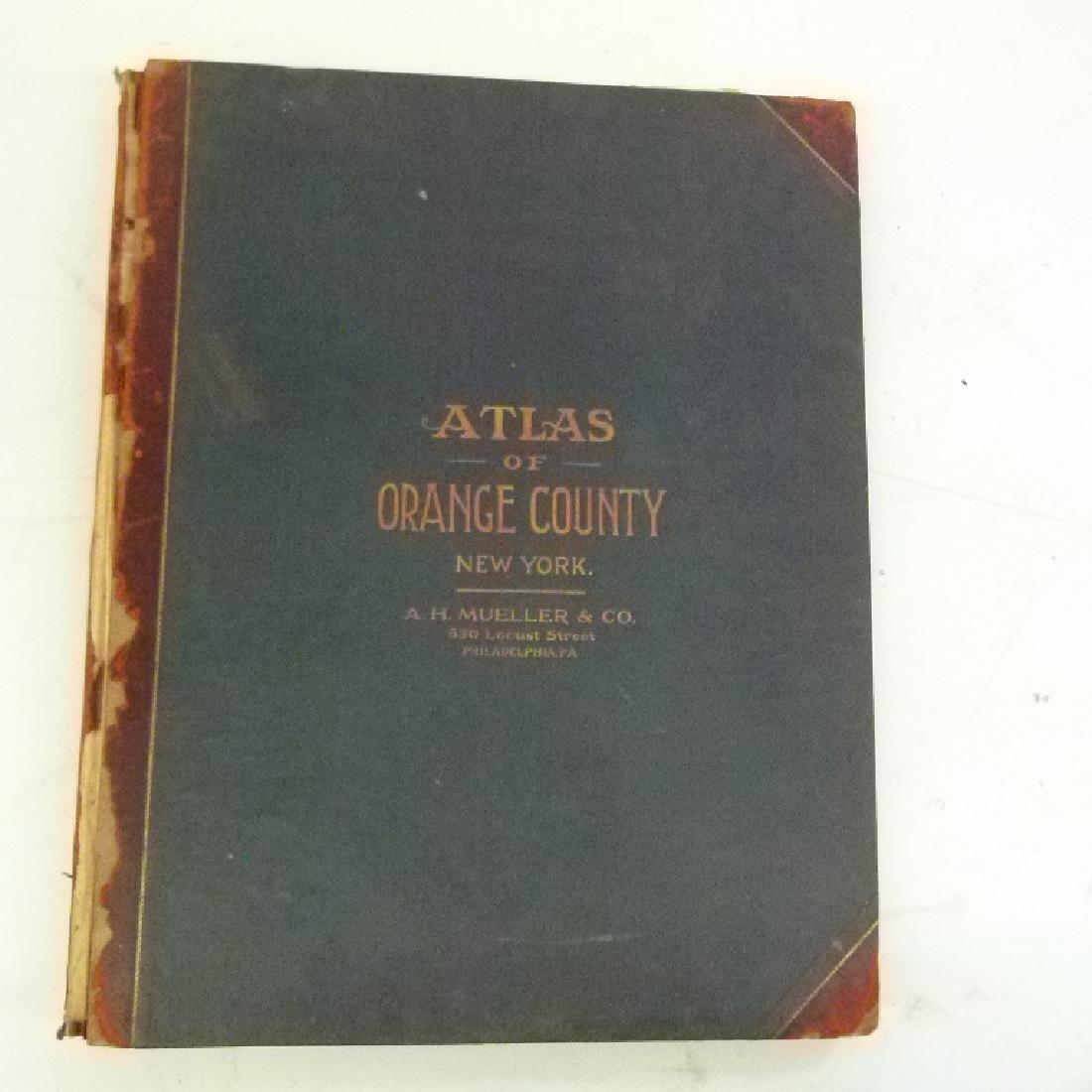 (2) ATLAS OF ORANGE COUNTY NY, A.H. MUELLER 1903 - 2