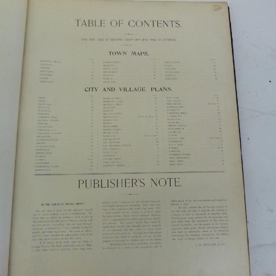 (2) ATLAS OF ORANGE COUNTY NY, A.H. MUELLER 1903 - 4