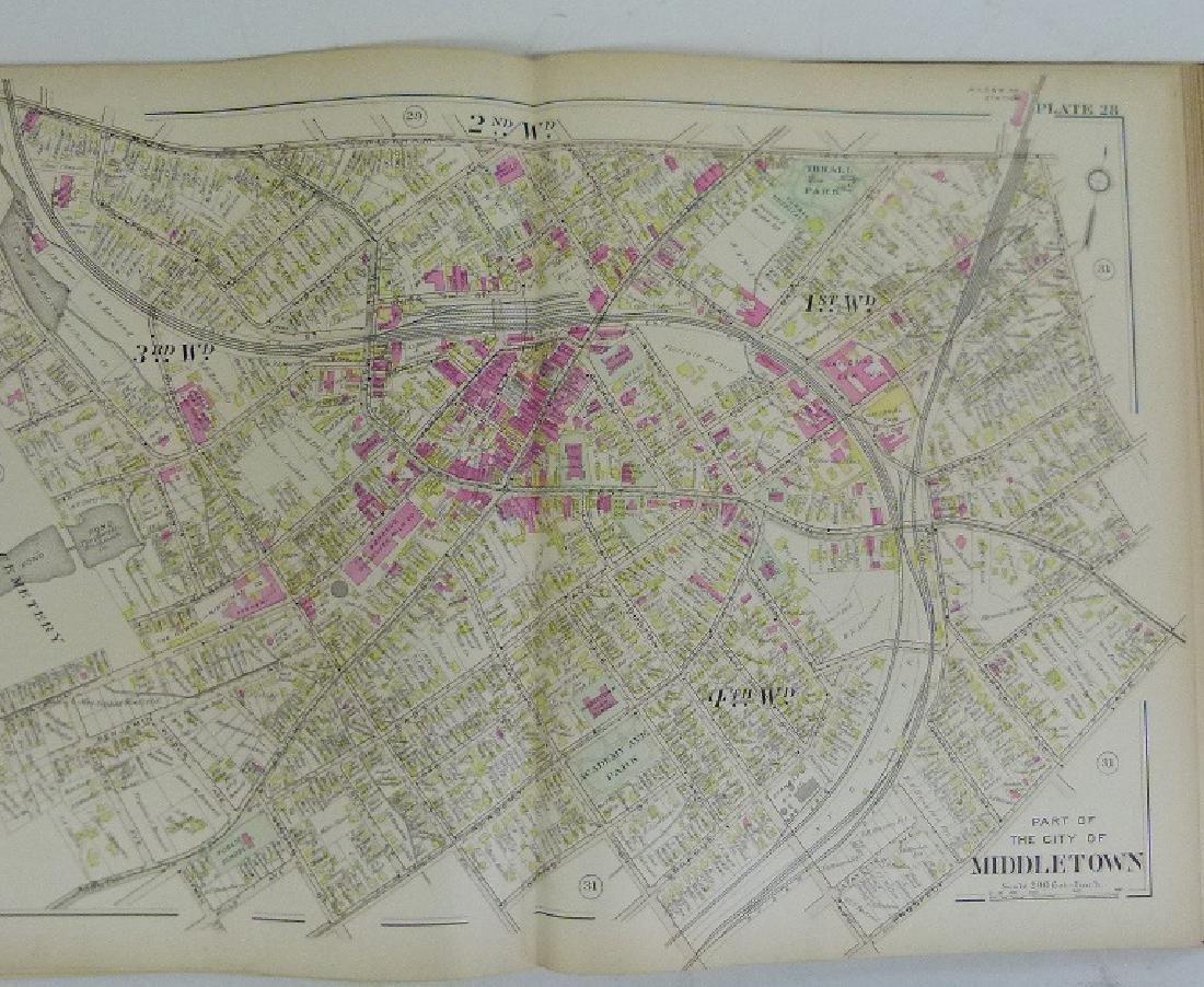 (2) ATLAS OF ORANGE COUNTY NY, A.H. MUELLER 1903 - 5