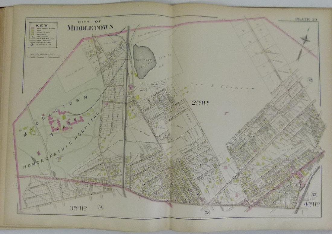 (2) ATLAS OF ORANGE COUNTY NY, A.H. MUELLER 1903 - 6