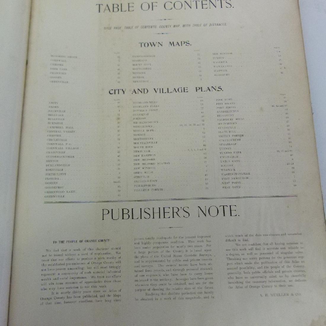 (2) ATLAS OF ORANGE COUNTY NY, A.H. MUELLER 1903 - 9