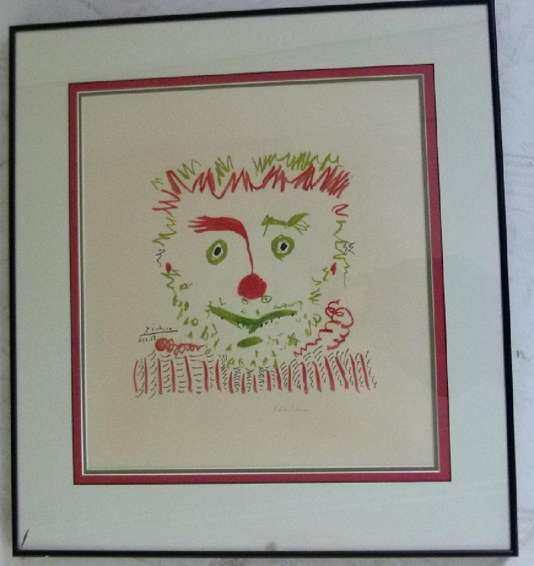 LITHOGRAPH LE CLOWN AFTER PABLO PICASSO