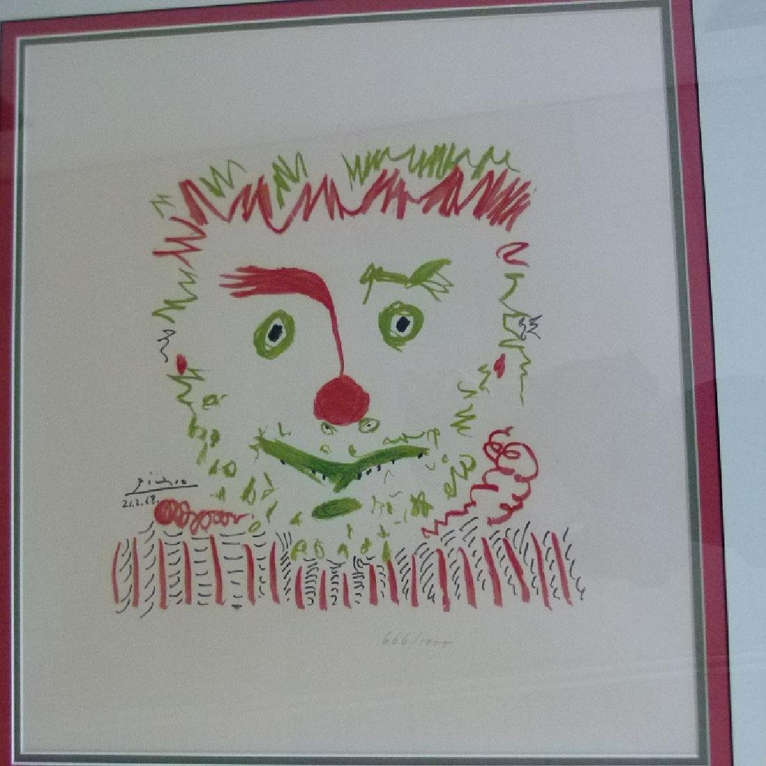LITHOGRAPH LE CLOWN AFTER PABLO PICASSO - 2