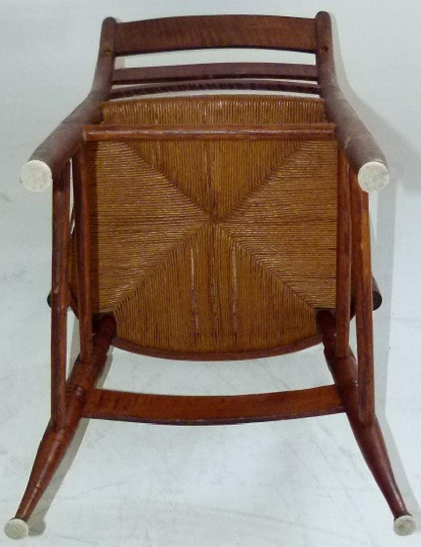 LOT (2) SHERATON TIGER MAPLE ARMCHAIRS C. 1820 - 10