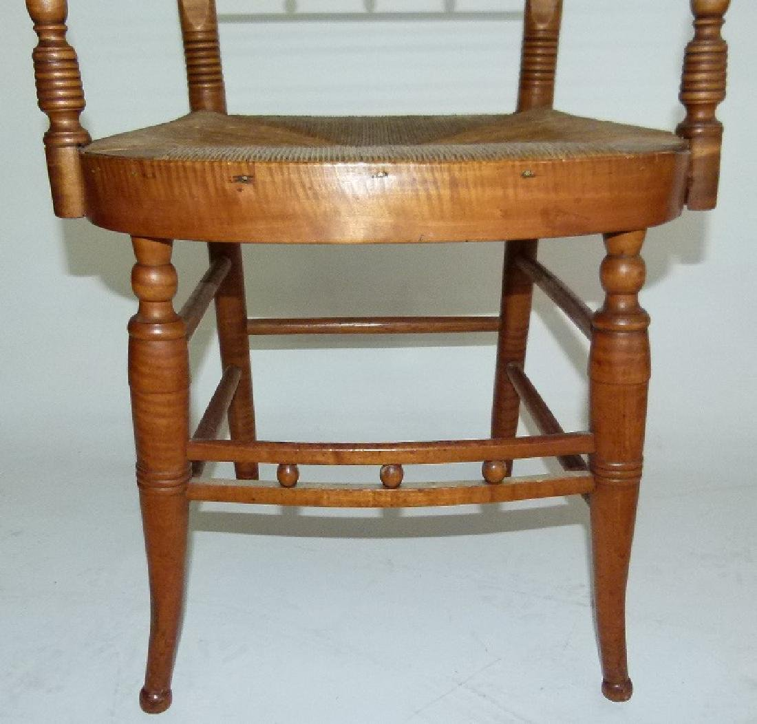 LOT (2) SHERATON TIGER MAPLE ARMCHAIRS C. 1820 - 3