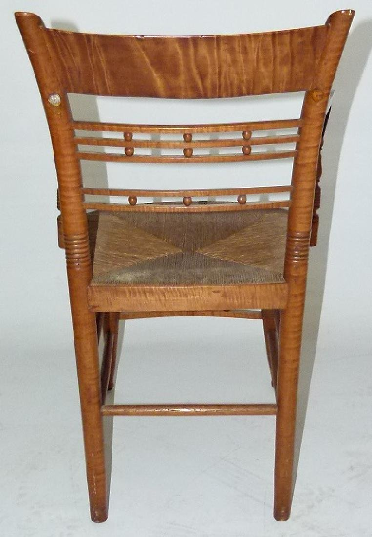 LOT (2) SHERATON TIGER MAPLE ARMCHAIRS C. 1820 - 4