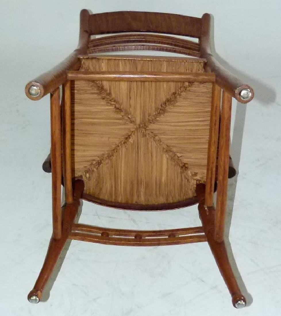 LOT (2) SHERATON TIGER MAPLE ARMCHAIRS C. 1820 - 5