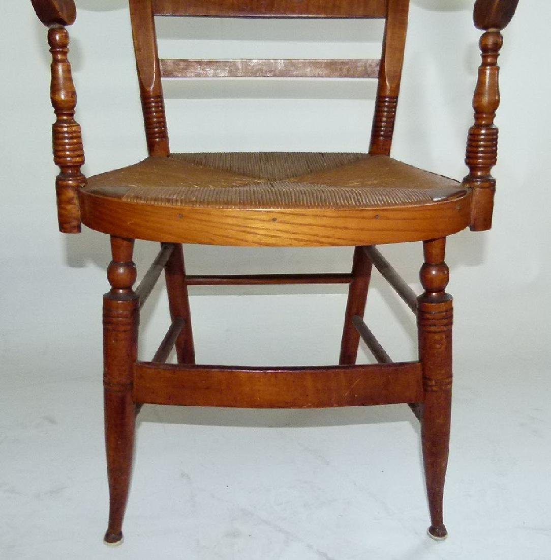 LOT (2) SHERATON TIGER MAPLE ARMCHAIRS C. 1820 - 7