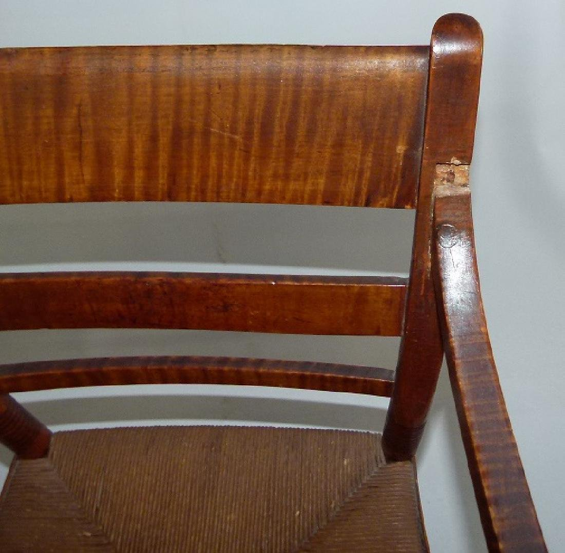 LOT (2) SHERATON TIGER MAPLE ARMCHAIRS C. 1820 - 8