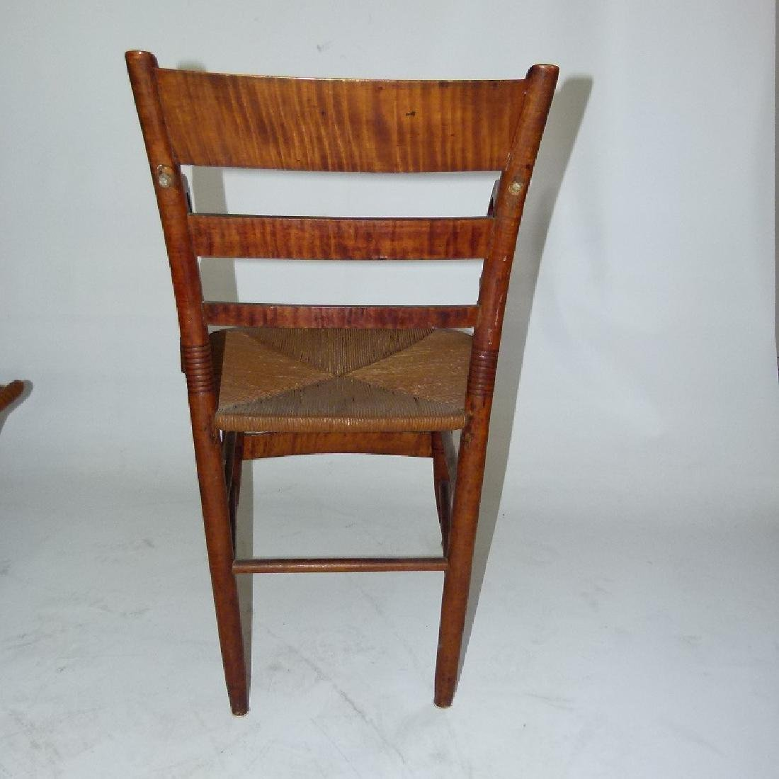 LOT (2) SHERATON TIGER MAPLE ARMCHAIRS C. 1820 - 9