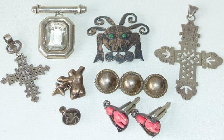 LOT ASSORTED MEXICAN STERLING JEWELRY