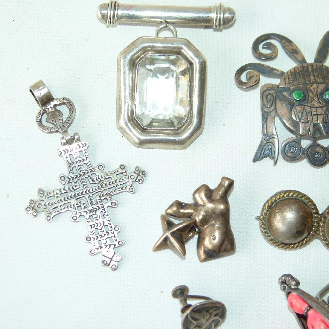 LOT ASSORTED MEXICAN STERLING JEWELRY - 2