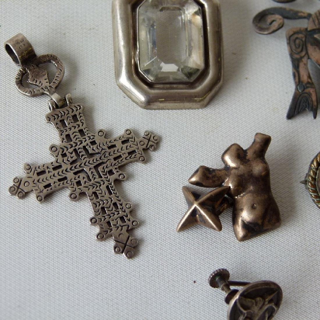 LOT ASSORTED MEXICAN STERLING JEWELRY - 5
