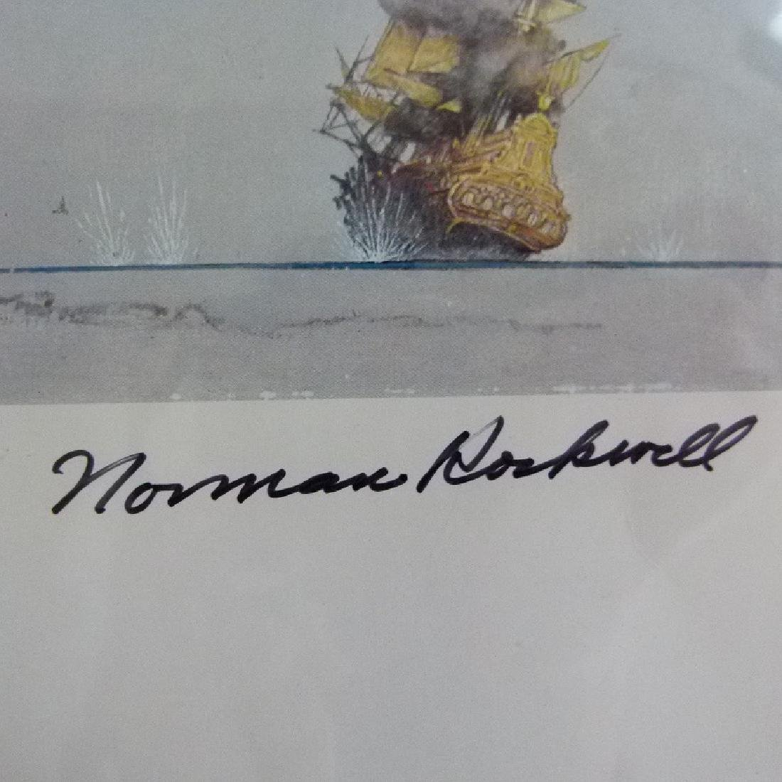 """PRINT  NORMAN ROCKWELL """"FAMILY TREE"""" SIGNED - 4"""