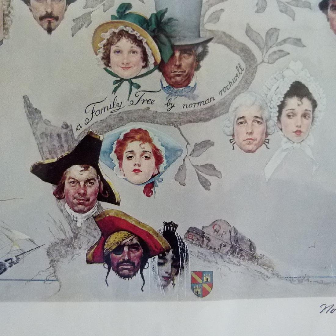 """PRINT  NORMAN ROCKWELL """"FAMILY TREE"""" SIGNED - 6"""
