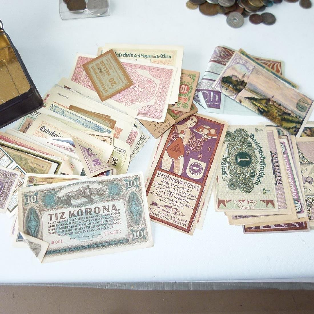 LOT ASSORTED US & FOREIGN CURRENCY, 19/20TH C.