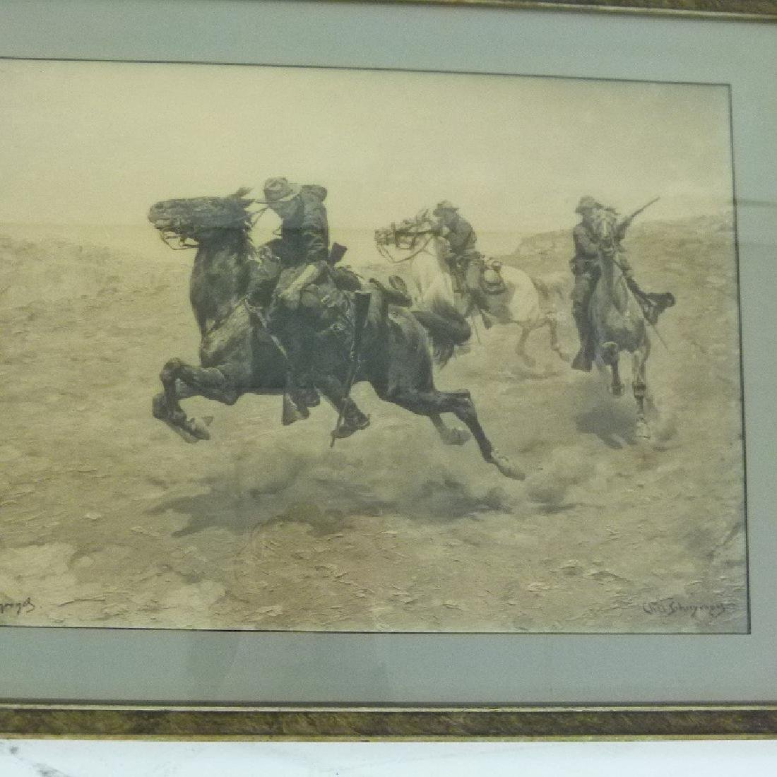 LOT (2) LITHO'S INDIAN WARS SIGNED INK/PLATE - 3