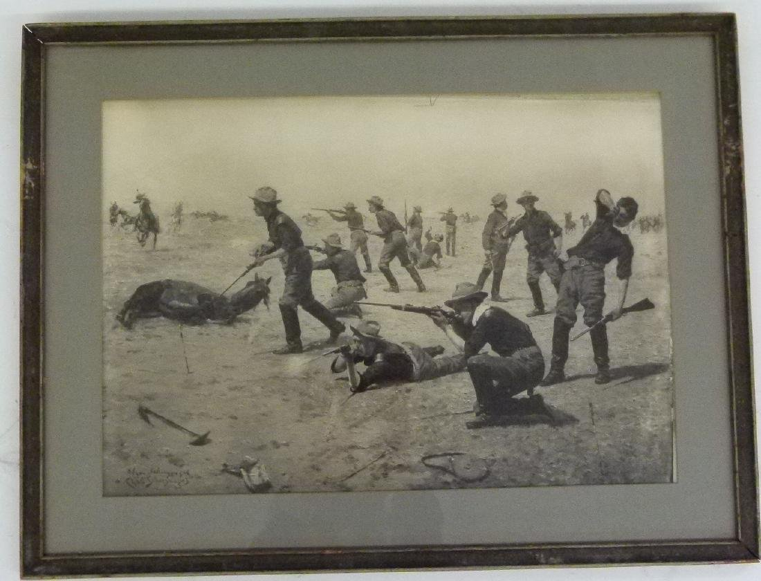 LOT (2) LITHO'S INDIAN WARS SIGNED INK/PLATE - 8