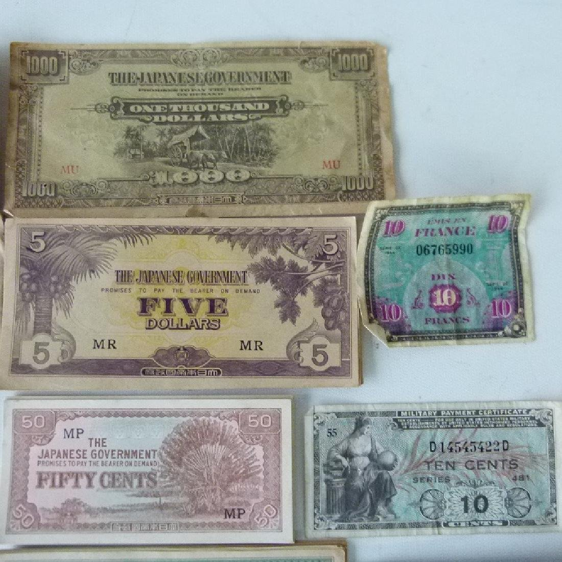 LOT WW II JAPANESE  INVASION CURRENCY, C. 1945 - 2