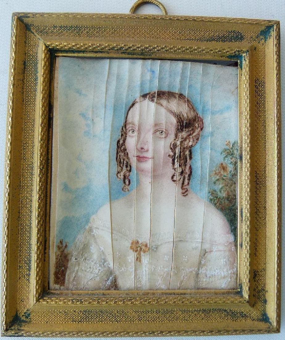 FRENCH W/C PORTRAIT OF YOUNG GIRL