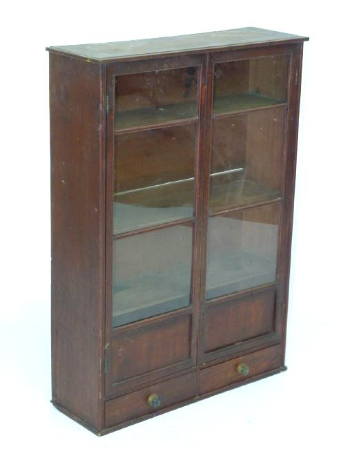 HEPPLEWHITE MAHOGANY HANGING DISPLAY CABINET