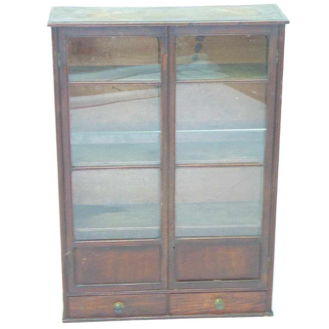 HEPPLEWHITE MAHOGANY HANGING DISPLAY CABINET - 2
