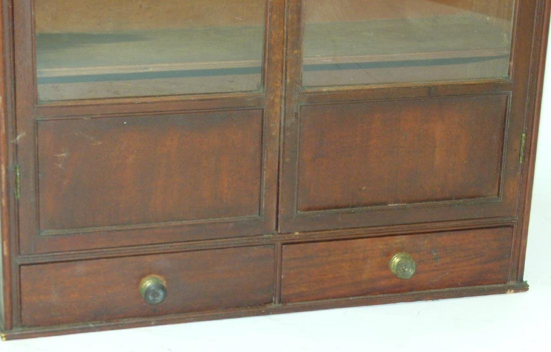 HEPPLEWHITE MAHOGANY HANGING DISPLAY CABINET - 3