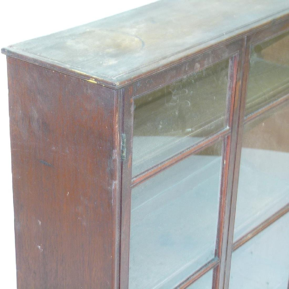 HEPPLEWHITE MAHOGANY HANGING DISPLAY CABINET - 4