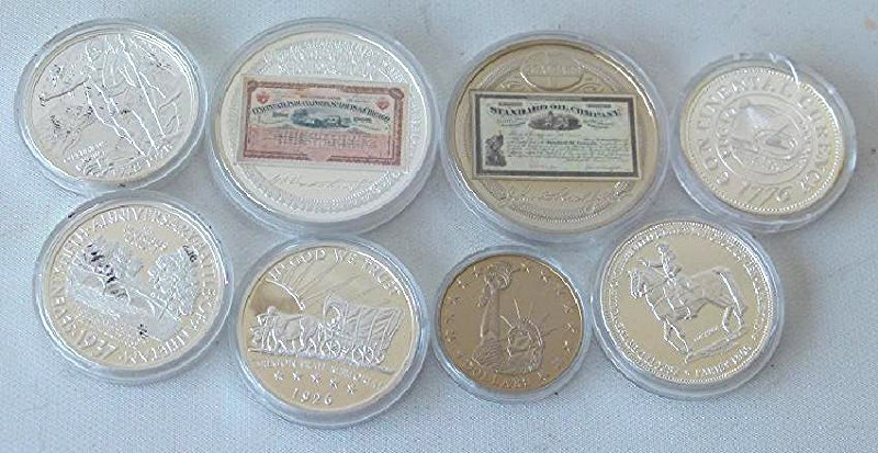 LOT (8) US COMMEMORATIVE COINS PROOF COPIES