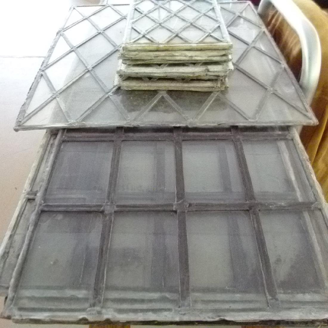 LOT ASSORT. MISSION STYLE LEADED GLASS WINDOWS