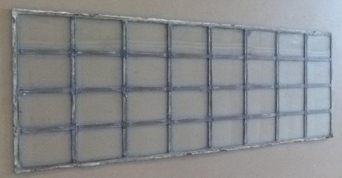 LOT ASSORT. MISSION STYLE LEADED GLASS WINDOWS - 4