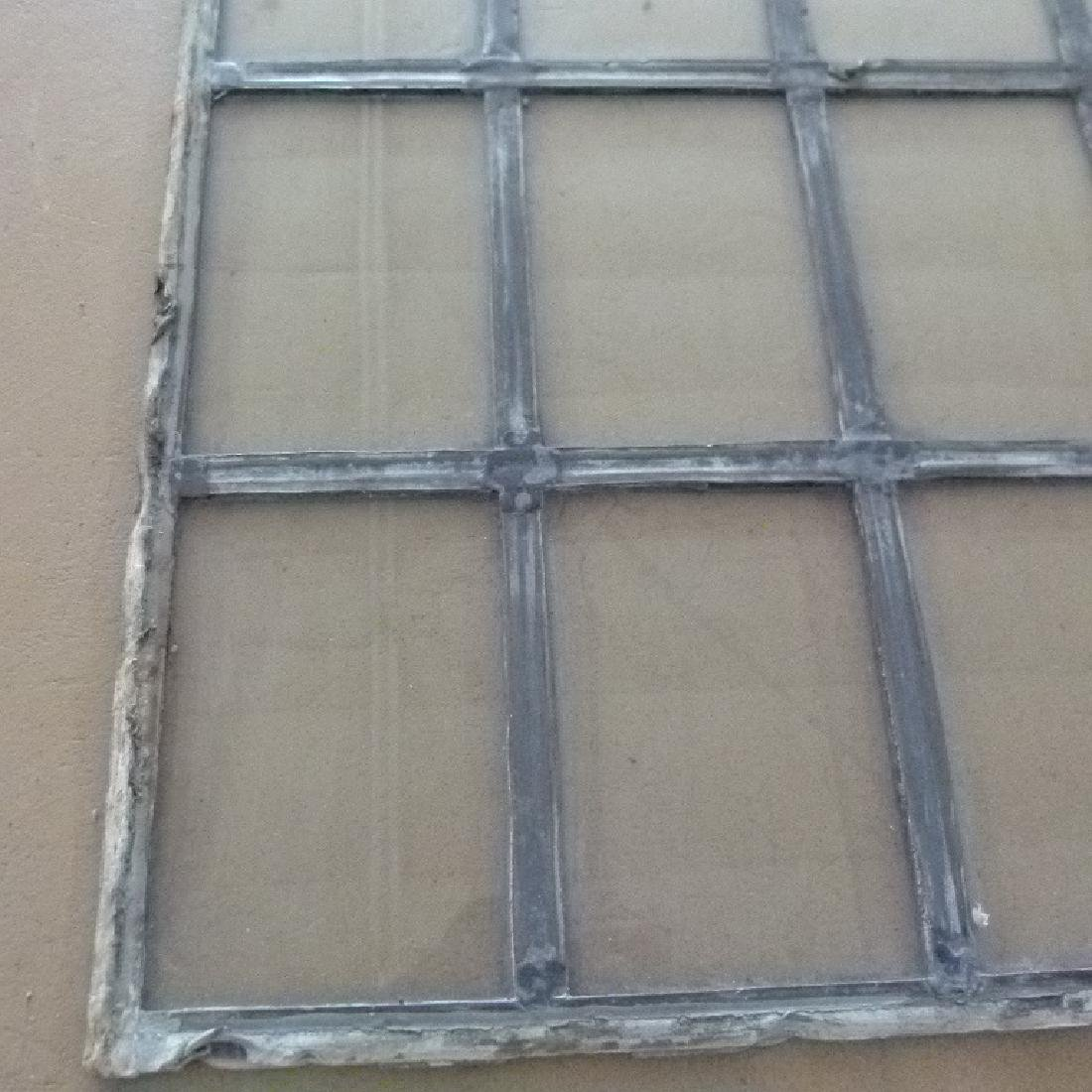LOT ASSORT. MISSION STYLE LEADED GLASS WINDOWS - 5