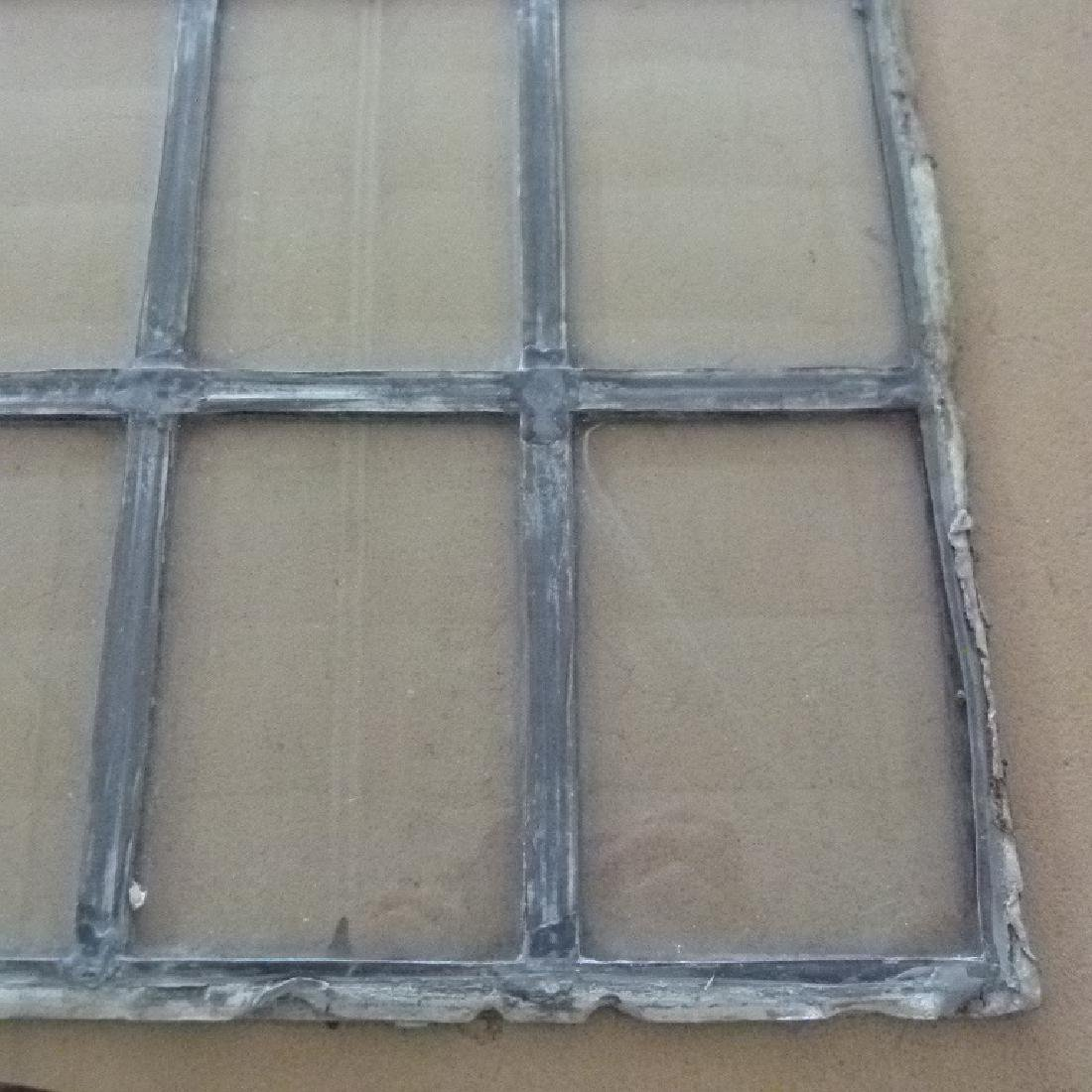 LOT ASSORT. MISSION STYLE LEADED GLASS WINDOWS - 6