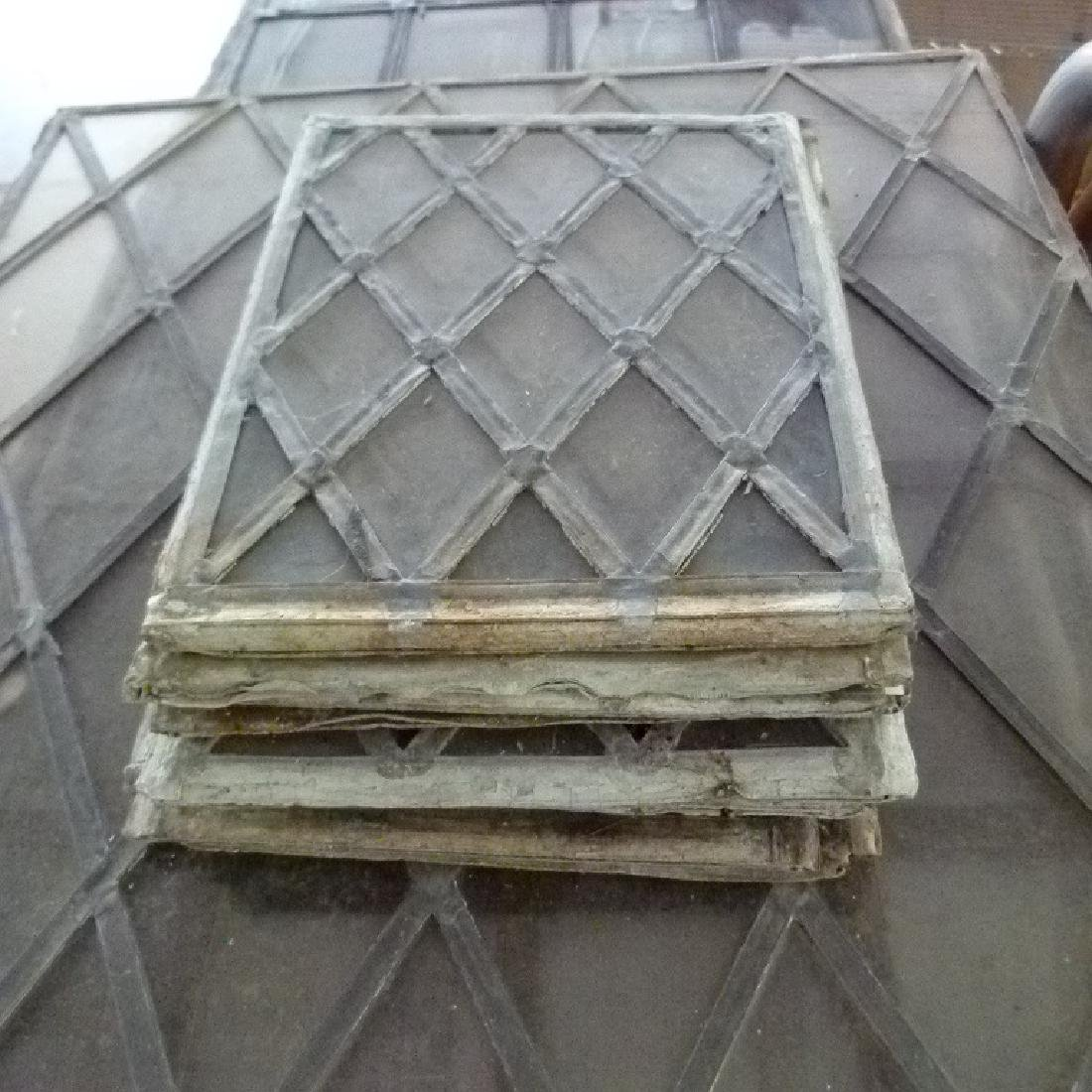 LOT ASSORT. MISSION STYLE LEADED GLASS WINDOWS - 7