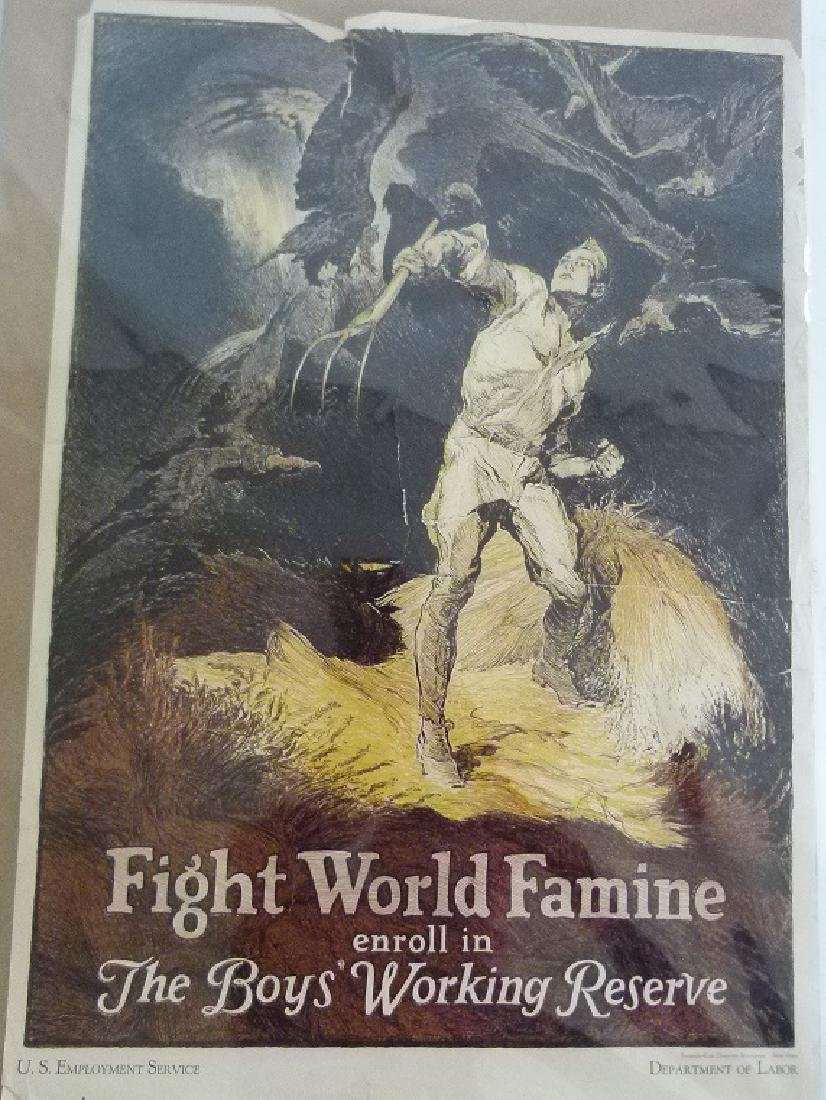 """LOT (2) LITHOS-POSTERS """"FIGHT WORLD FAMINE"""" - 2"""
