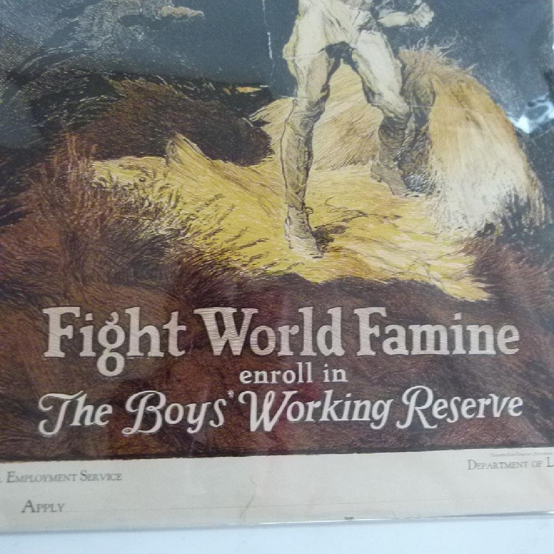 """LOT (2) LITHOS-POSTERS """"FIGHT WORLD FAMINE"""" - 4"""