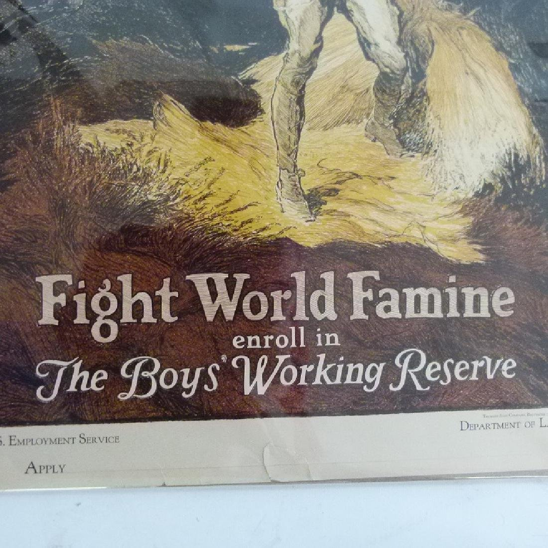 """LOT (2) LITHOS-POSTERS """"FIGHT WORLD FAMINE"""" - 6"""