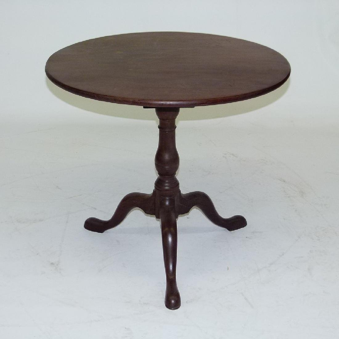 PA CHIPPENDALE BLACK WALNUT  TILT TOP TABLE - 10