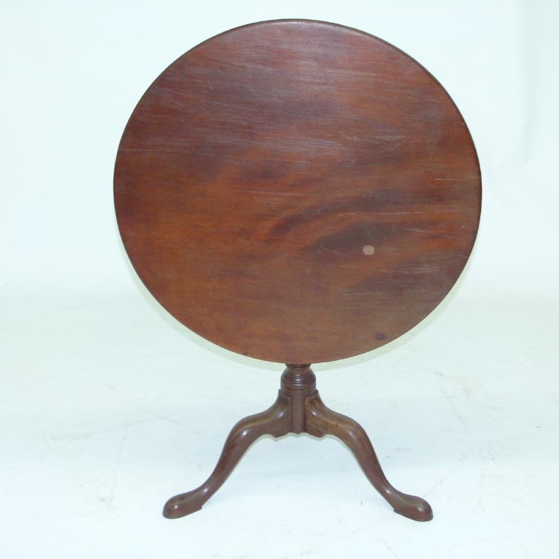 PA CHIPPENDALE BLACK WALNUT  TILT TOP TABLE
