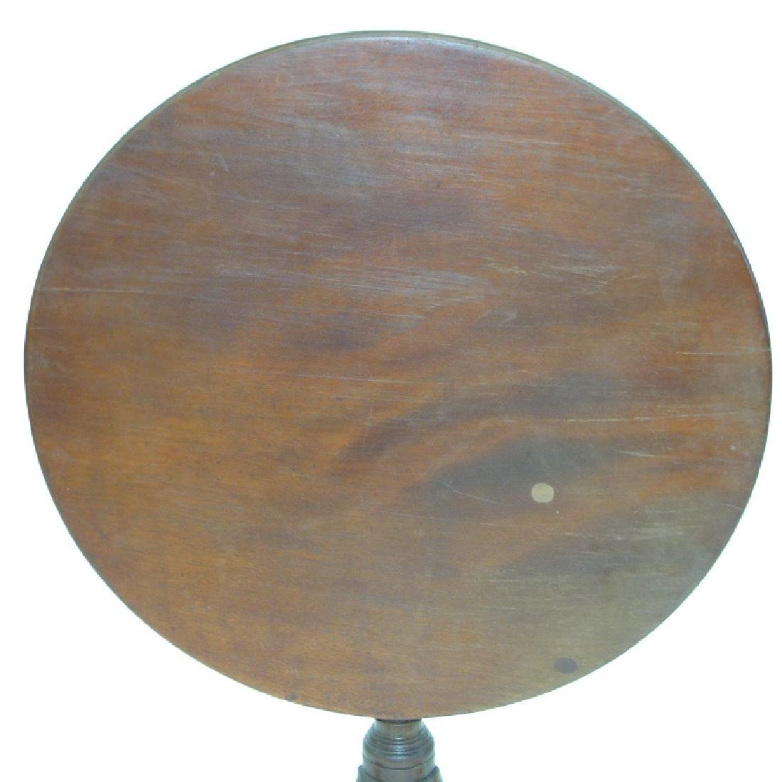 PA CHIPPENDALE BLACK WALNUT  TILT TOP TABLE - 2
