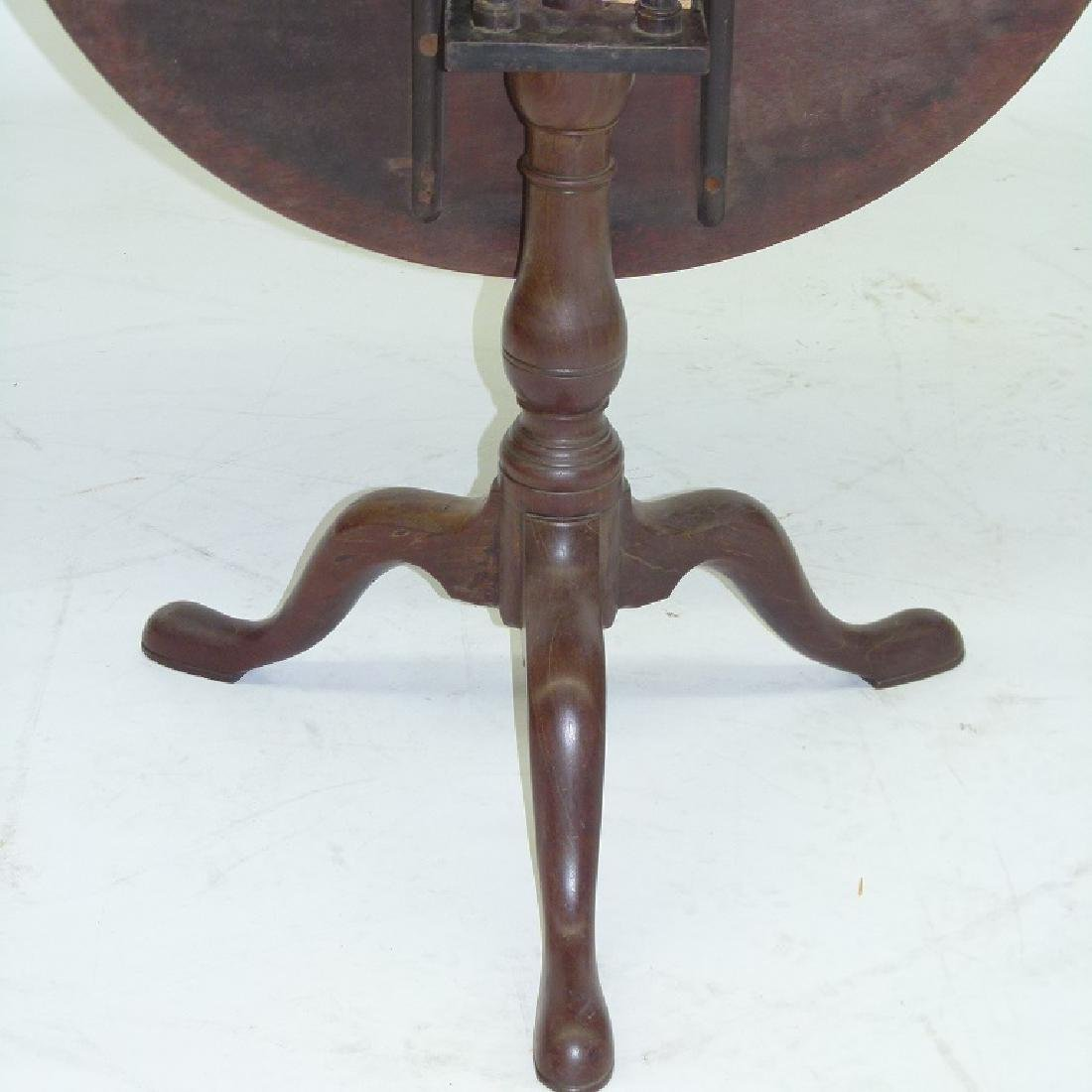 PA CHIPPENDALE BLACK WALNUT  TILT TOP TABLE - 4