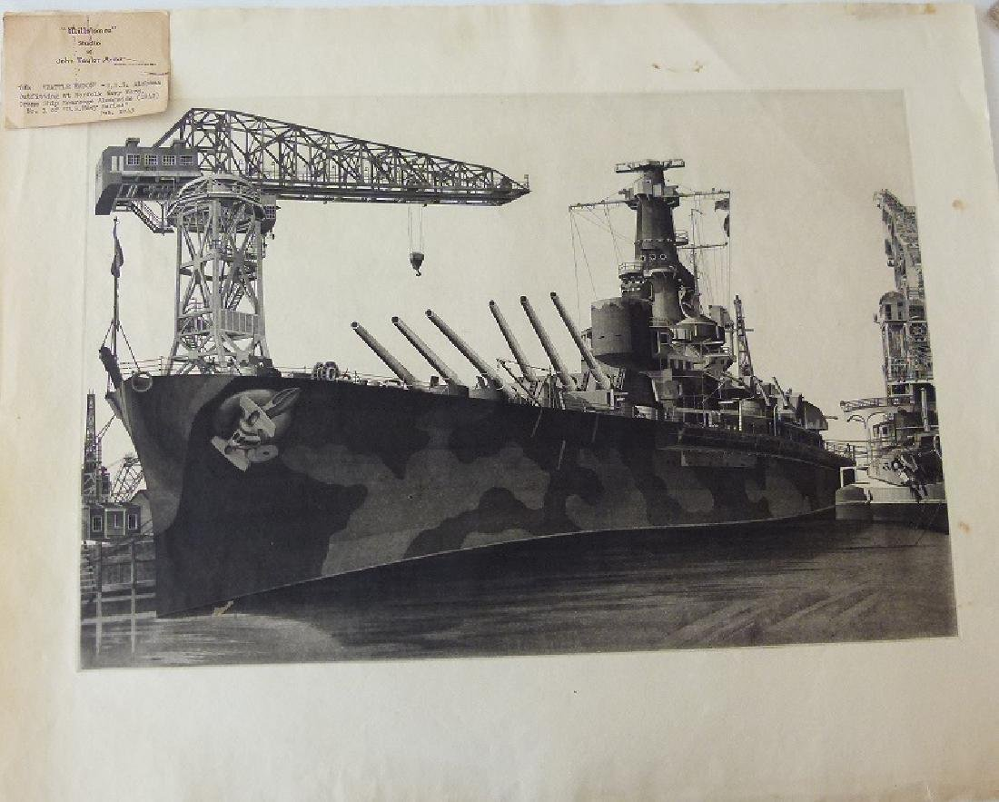 LOT (2) ETCHINGS, DOCKED SHIPS, JOHN TAYLOR ARMS - 7
