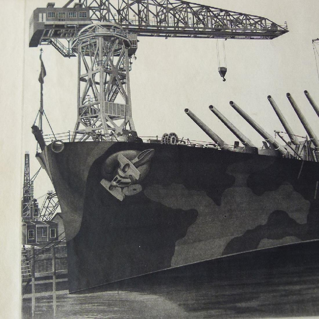 LOT (2) ETCHINGS, DOCKED SHIPS, JOHN TAYLOR ARMS - 9