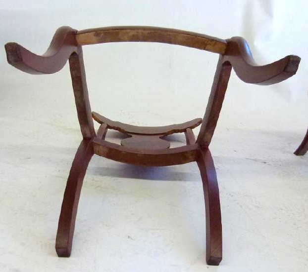 SET (4) CARVED MAHOGANY DINING ROOM CHAIRS - 10