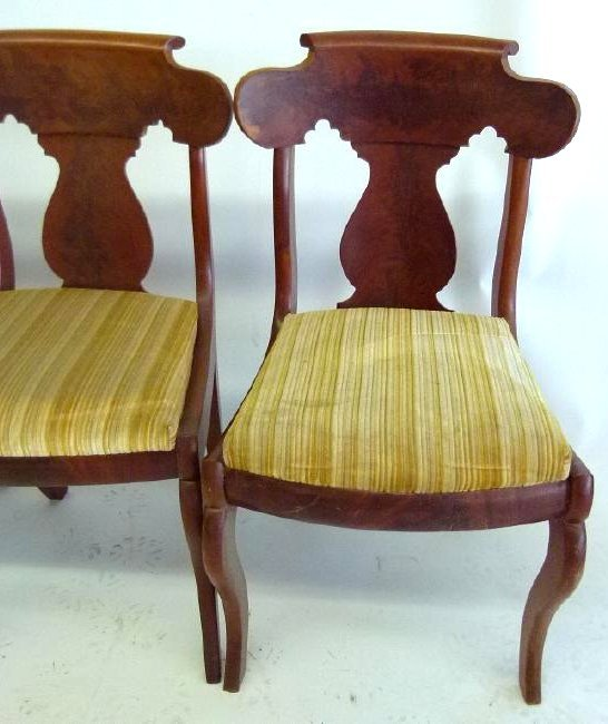 SET (4) CARVED MAHOGANY DINING ROOM CHAIRS - 2