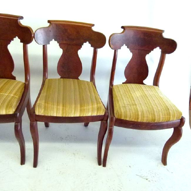SET (4) CARVED MAHOGANY DINING ROOM CHAIRS - 3