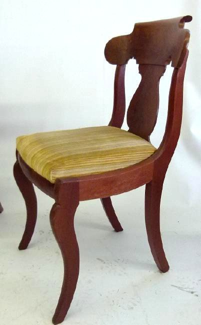SET (4) CARVED MAHOGANY DINING ROOM CHAIRS - 5